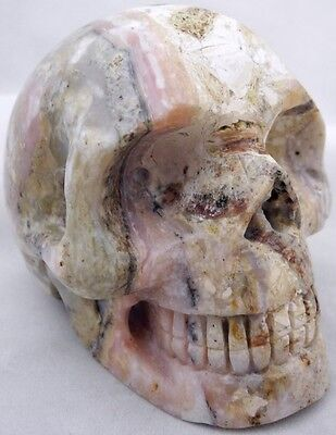Carved Peruvian  Pink Opal Crystal Skull
