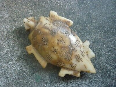 Chinese antique unearthed ancient aristocratic wear white turtle pendant