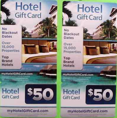 $100 MYHOTELGIFTCARD.COM Hotel promotional Card  Buy one get one for free!