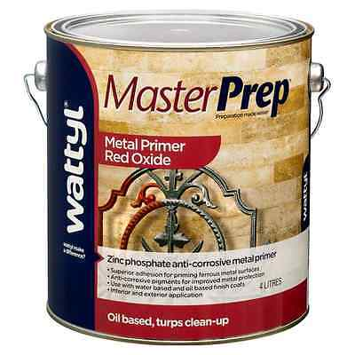 Wattyl Master Prep Metal Primer RED OXIDE, 1L or 4L