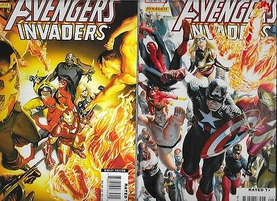 Complete Avengers Invaders 1,2,3,4,5,6,7,8,9,10,11,12 NM FZ