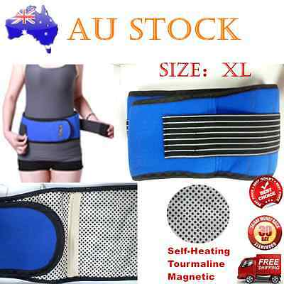 2 x ADJUSTABLE DOUBLE PULL BIO MAGNETIC LUMBAR & LOWER BACK SUPPORT BELT