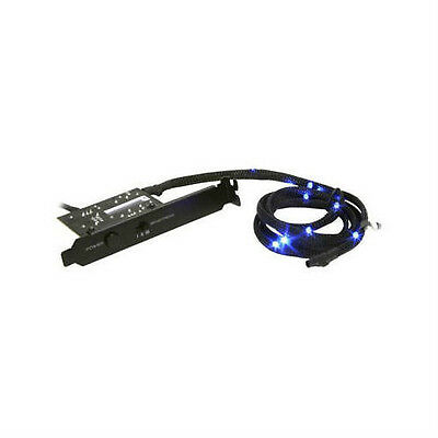 NZXT Sleeved LED Kit - Blue (1m/39.37inch) Computer Lights
