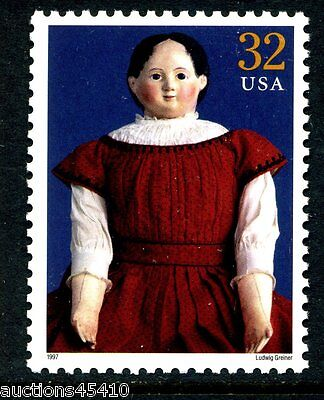 "32¢ Classic American Dolls Stamp -""Ludwig Greiner"" - MNH   #3151k"