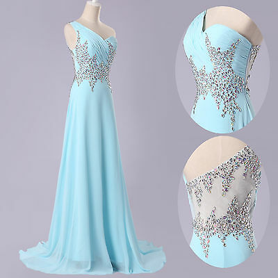 NEW Beaded Formal Evening Cocktail Bridesmaid Party Gown Wedding Long Prom Dress