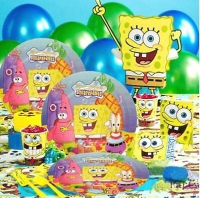 DELUXE SpongeBob SquarePants Birthday Party Supplies Set for 12 (SUPER DEAL)