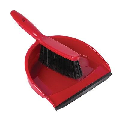 Jantex Soft Dustpan and Brush Set Red Brush And Dustpan Cleaning Floor