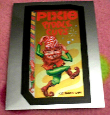 WACKY PACKAGES CHROME SERIES 1 **PIXIE CUPS** #16 CUTTING ROOM FLOOR INSERT