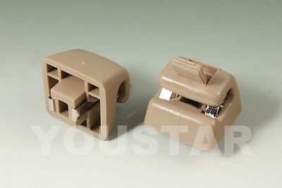 MERCEDES BENZ 2 x Cream Beige LIGHTED Sun Visor Clips for W123 W124 W126 W201 s2
