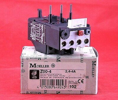 Moeller Z00-4 Motor Thermal Overload Circuit Relay , 2.4 - 4A , 6W , 500V AC