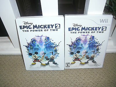 EPIC MICKEY 2 NINTENDO WII GAME, NEW WITH BONUS STEEL CASE!