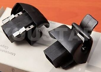 MERCEDES BENZ SL CLASS R129 NEW PAIR BLACK Sun Visor Mirror Mount X2 Clips r8