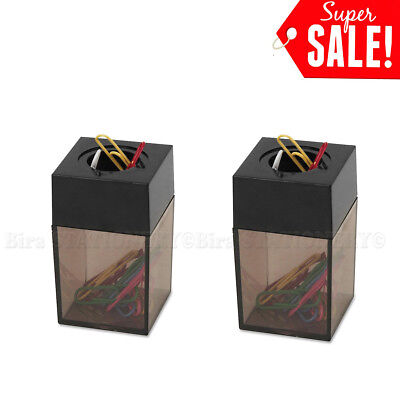 2x Paper Clip Dispenser Magnetic Holder 42 x 42 x 68mm for office school home
