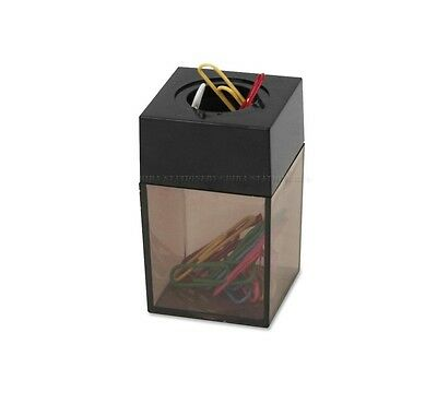 Paper Clip Dispenser Magnetic Holder 4.2cm x 4.2 x 6.9 for office school home BK