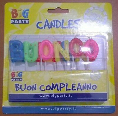 Candelina Lettere Colorate Buon Compleanno Candela Festa Compleanno Party
