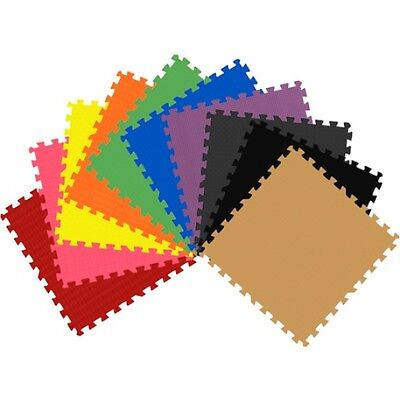 24 Sq Ft EVA Foam Floor Mat Interlocking Exercise Gym Flooring 6pcs Each GETRUNG