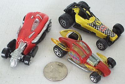 """Diecast 3-pc Indy Unusual Race Cars #3 USED approx 3"""" See Photo"""