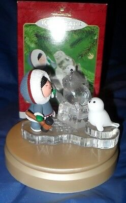 "HALLMARK KEEPSAKE ORNAMENT   ""FROSTY FRIENDS""  HANDCRAFTED ~ DATED 2000  *NIB*"