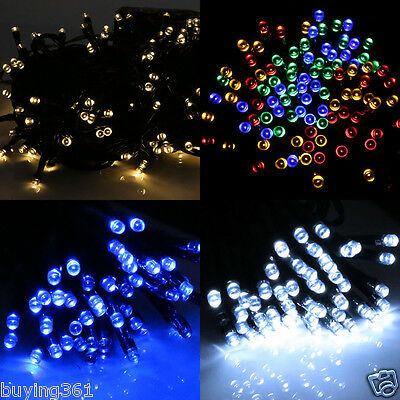 100 200 LED Solar Fairy Lights String Christmas Garden Outdoor Tree Party Light