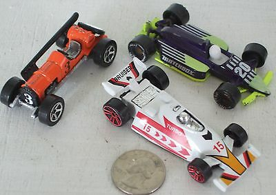 """Diecast 3-pc Indy Race Cars #8 USED approx 3"""" See Photo"""