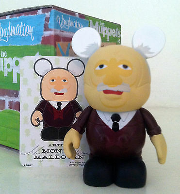 "DISNEY VINYLMATION 3"" MUPPETS SERIES 1 WALDORF OLD MAN BALCONY 2010 PARK FIGURE"