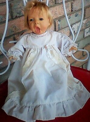 ANTIQUE SIGNED BERENGUER REALISTIC FACIAL EXPRESSION BABY DOLL