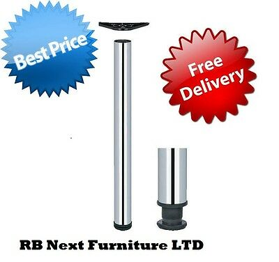 Set of legs 1100mm 4 x chrome , kitchen , table , worktop support