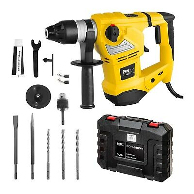 Impact Rotary Drill Hammer Sds Plus 230 V 3 Functions 1800 W Case + Accessories