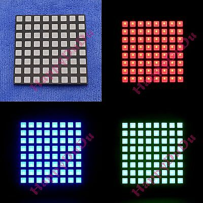 RGB 8x8 Colorful Full Color LED Dot Matrix Display 60x60mm Square Common Anode b