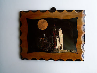 Space Shuttle Plaque with Moon 1984 from Kennedy Space Center in Florida