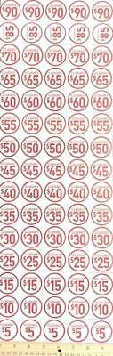 New! 100 Pack ⭐Assorted⭐ Price Point Clearance Retail Store Stickers Tags Labels