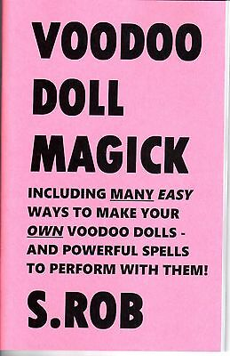 VOODOO DOLL MAGICK book by S. Rob occult, black magic, paranormal, witchcraft