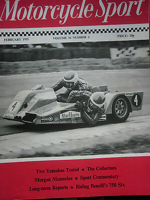 Motorcycle Sport Magazine 02/75 The Boret 3-Wheeler At Brands Hatch Cover