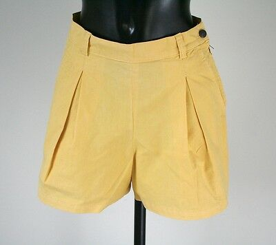 Valentino Yellow Vintage Shorts - Cotton Canvas - UK 6 / 8