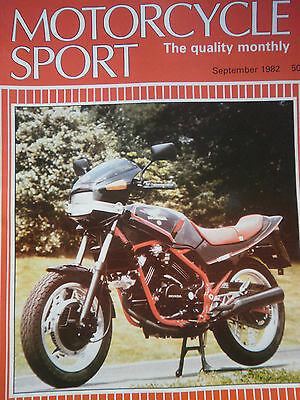 Motorcycle Sport Magazine 09/82 Honda Vt250 Cover And 7 Page Test