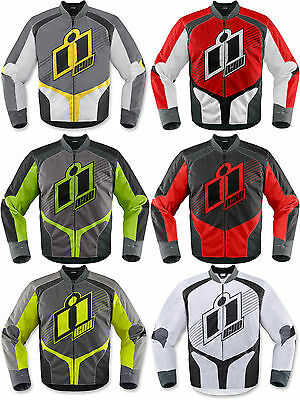 Icon Men's Overlord Textile Motorcycle Jacket Riding Jacket Gear