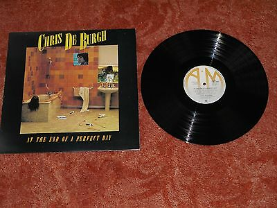 CHRIS DE BURGH - AT THE END OF A PERFECT DAY - NM UNMARKED VINYL LP - TOP COPY!!