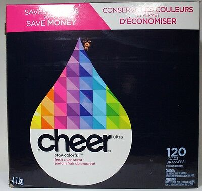 Cheer Ultra Fresh Clean Scent Laundry Detergent 120 Loads 4.7kg