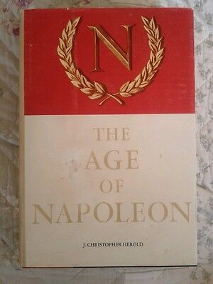 The Age of Napoleon Vintage 1963 by J. Christopher Herold HCDJ