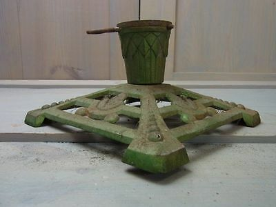 ZL19 Gorgeous Cast Iron Metal Christmas Xmas Tree Stand Antique German 1930's