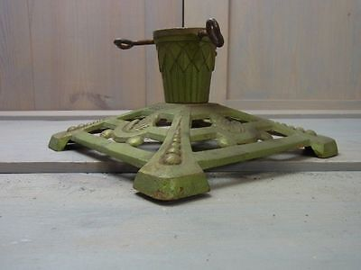 ZL17 Gorgeous Cast Iron Metal Christmas Xmas Tree Stand Antique German 1930's