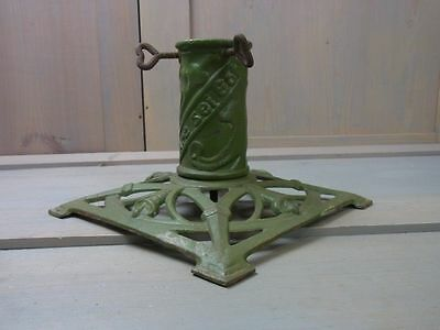 ZL1 Cast Iron Metal Bell Motif Christmas Xmas Tree Stand Antique German 1930's