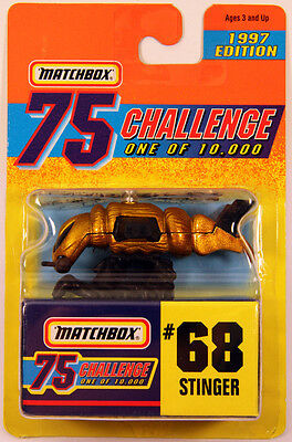 GOLD 75 Challenge STINGER #68 from 1997 Matchbox Limited Edition rare