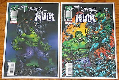 THE DARKNESS HULK #1 + #1  VARIANT by MARC SILVESTRI Marvel Top Cow comic lot