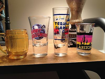 Mixed Collection of Shot Glasses.  13 total