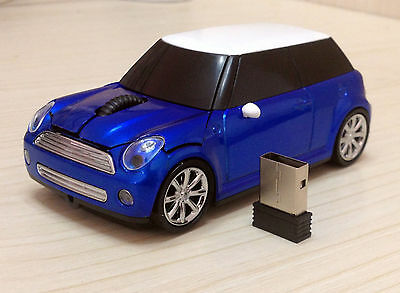 3D USB optical 2.4G Wireless Mouse BMW Mini Cooper car mouse Computer mouse Gift