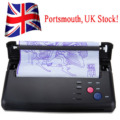 Pro Black Tattoo Transfer Copier Printer Machine Thermal Stencil Paper Maker UK