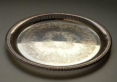 GALLERY SILVER PLATED TRAY WEBSTER WILCOX INTERNATIONAL SILVER CO BRANDON HALL