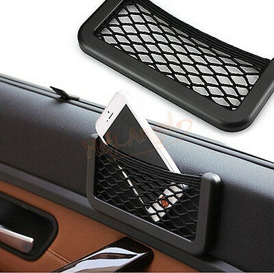 Universal Car Auto Storage Mesh Net Mobile Phone Organizer Bag Holder Pocket