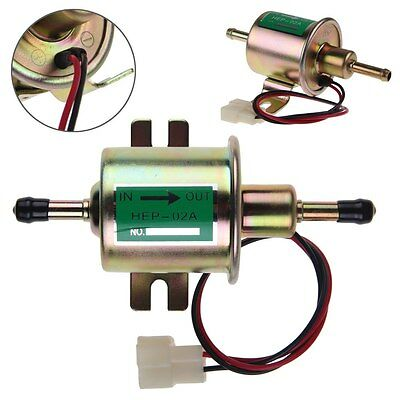 HEP-02A 12V Low Pressure Electric Fuel Pump Bolt Fixing Wire Diesel Petrol